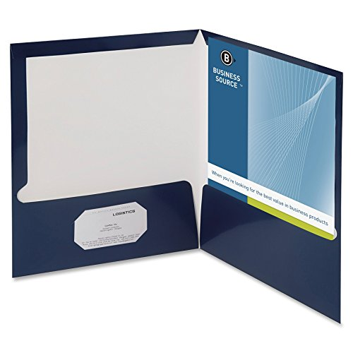 (Business Source 2-Pocket Report Covers with Bus Card Holder )