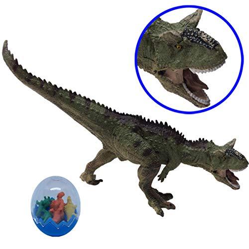 Fuerzon 恐竜 カルノタウルス フィギュア おもちゃ 口開閉 両足自立 塗装済 リアル 大迫力