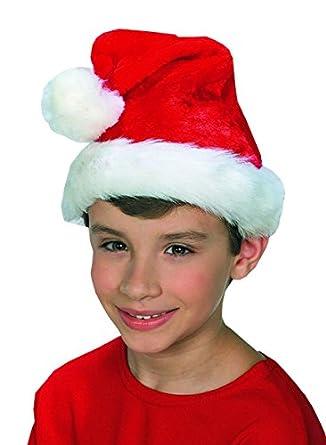 Amazon.com: Sombrero de Papá Noel de felpa para niño ...