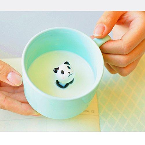ZaH 300ml 3D Animal Cup Morning Mug, White Rabbit by ZaH (Image #2)
