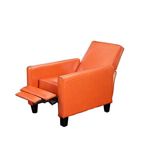 Gracelove living room furniture modern design burnt orange leather recliner chair orange for - Orange living room chair ...