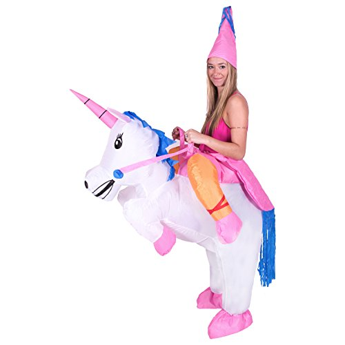 Bodysocks Adult Inflatable Unicorn Fancy Dress Costume -
