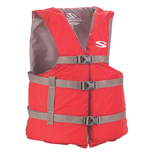 Stearns Adult Classic Series Vest,  3000001412, Red, Universal (Pocket Vest Classic Chest)