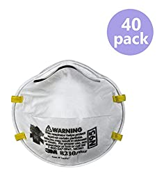 3M Dust Respirators 8210 Plus, N95, 40-Pack
