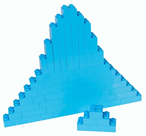 Strictly Briks Classic Big Briks Building Brick Set 100% Compatible with All Major Brands | 3 Large Block Sizes for Ages 3+ | Premium Sky Blue Building Bricks | 84 Pieces
