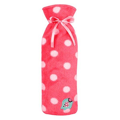 1L Wärmflasche Water Bag Wasserfüllung Handwärmetasche Punkt Rosa