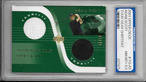 2001 Upper Deck Golf Adam Scott Tour Gear Worn Shirt & Hat Card # 48/50 PGS ()