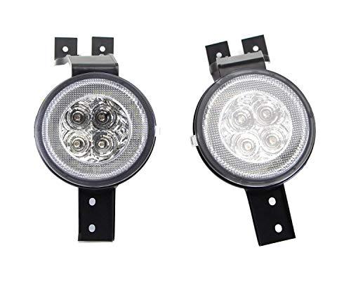 clear lens white led drl parking light