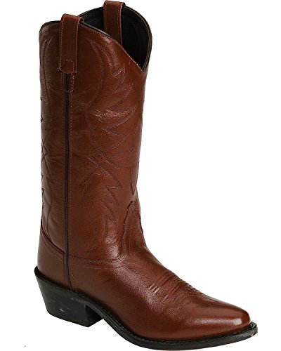Old West Men's Smooth Leather Cowboy Boot Medium Toe Black Cherry 11 D(M) ()