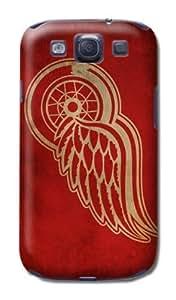 1Pcs NHL Hockey Detroit Red Wings Fashion Hard Plastic Case Cover For Samsung Galaxy S3 I9300 by kobestar
