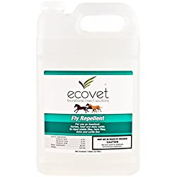 ECOVET Horse Fly Spray Repellent/Insecticide (Made with Food Grade Fatty acids), 1 Gallon