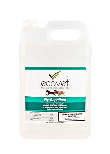 ECOVET Horse Fly Spray Repellent/Insecticide (Made with food grade fatty acids), 1 - Tack Eco