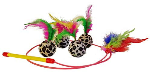 Sweet Pete Cat Toys Feather Toys, Animal Print, Sisal Mice, Feather Wand Cat Chaser
