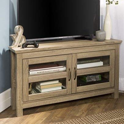 TV Stands Table Cabinet  Driftwood Wood For Up To 50 Inch Display Your TV In