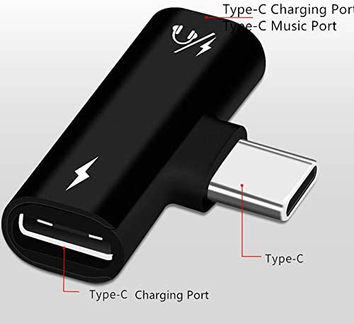Black Jaorty Dual USB Type C Jack 2 in 1 Stereo Earphone Headset Converter and Charging Adapter Splitter for Xiaomi 6//6X//8 Mix 2 2S,Huawei P20 Pro//P20//P20 lite//Mate 20 Pro//Mate 20 RS//Mate 10 Pro
