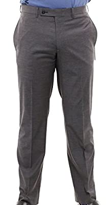 Calvin Klein Grey Extreme Slim Fit Dress Pants For Men Classic Flat Front Style Trousers