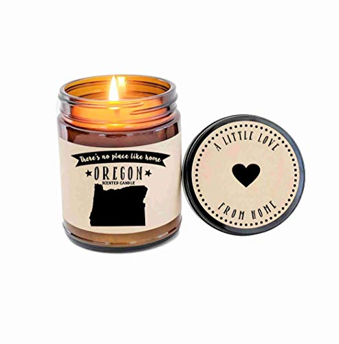 Oregon Scented Candle State Candle Homesick Gift No Place Like Home Thinking of You Holiday Gift (Home Oregon)