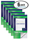 Sales Order Books, 6 Pack, 2-Part Carbonless