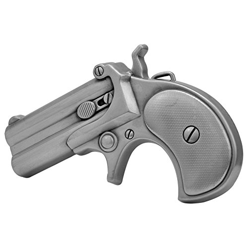 Hand Belt Buckle (Buckle Rage Adult Unisex Derringer Handgun Pistol Revolver Belt Buckle)
