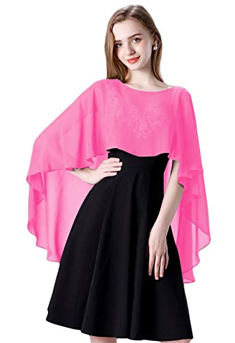 Chiffon Shawls and Wraps for Evening Dress Women Cape Wedding Accessories ()