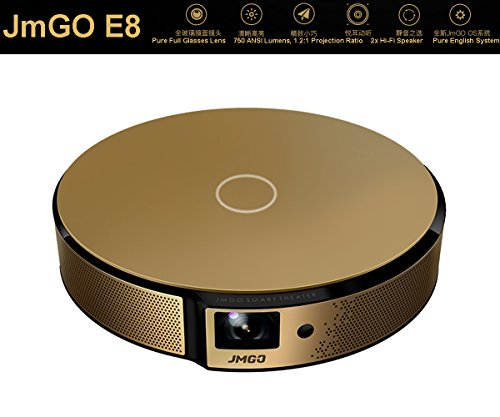 JmGO E8 Android Smart 1080p Projector HD 3D Projector with HIFI Speaker LiveTV Services