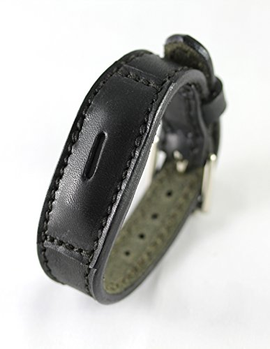 Fitbit Flex 2 Real Leather Band - Replacement Band For Fitbit Flex 2 - Full Grain Fit Bit Flex band (Black, (Flex Leather)