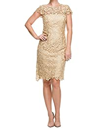 Womens Short Lace Evening Gown Cap Sleeve Mother Of The Bride Dress LH154
