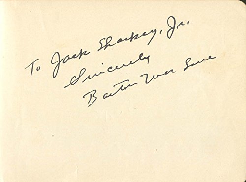 Barton Mac Lane – Autograph Note Signed