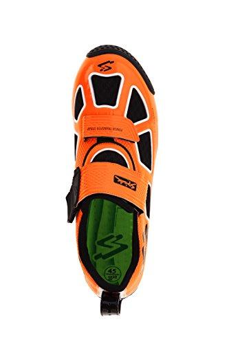 Spiuk Trivium Triathl C Zapatilla, Unisex Adulto naranja / blanco / negro