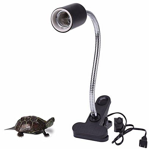 HIIZORR Heat Light For Reptiles Tortoise 720°Rotating Flexible Clamp Lamp Lizard Or Amphibian Adjust Brightness Habitat Lighting Holder, Bulb Not Included,Fit E27 Bulb |RESPECTING by HIIZORR