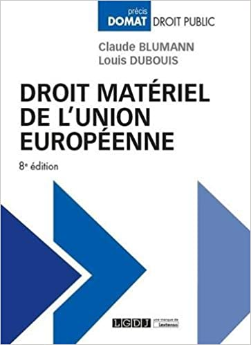 Book's Cover of Droit matériel de l'Union européenne (Français) Broché – 17 décembre 2019