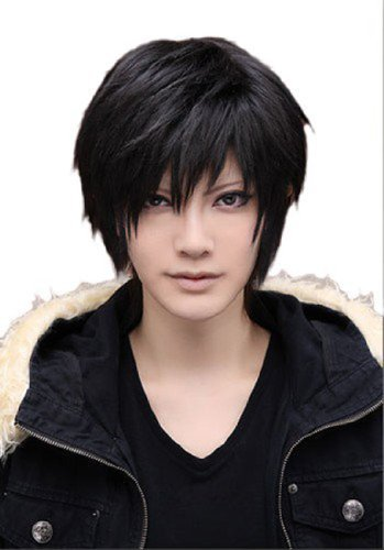 Probeauty Men's Male Black Short Straight Hair Wig/Wigs Cosplay Party