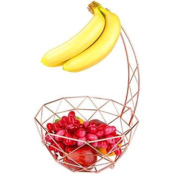 Amazon.com: DongJiang Fruit Basket with Banana Hanger, Detachable ...