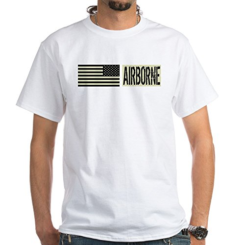 CafePress U.S. Military: Airborne (Blac T-Shirt 100% Cotton T-Shirt, White