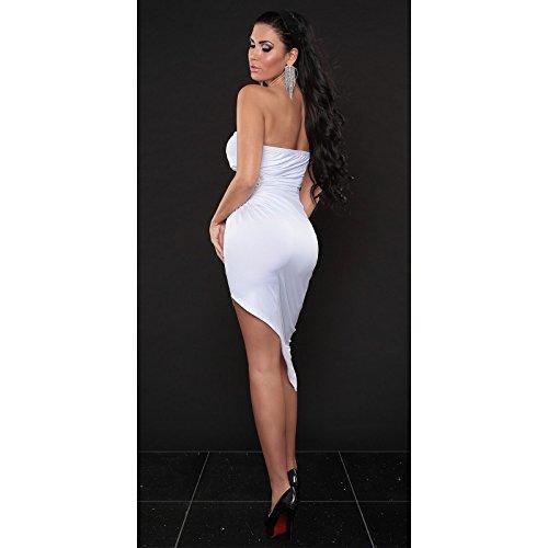 Mela Proibita - sexy Costume bande-écharpe transversal asymétrique sexy cérémonie soirée mariage femme - Blanc, Unique S/L