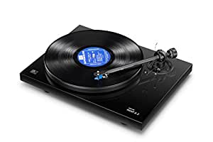 Music Hall MMF 2.2 Belt Driven Turntable with Cartridge, Gloss Black