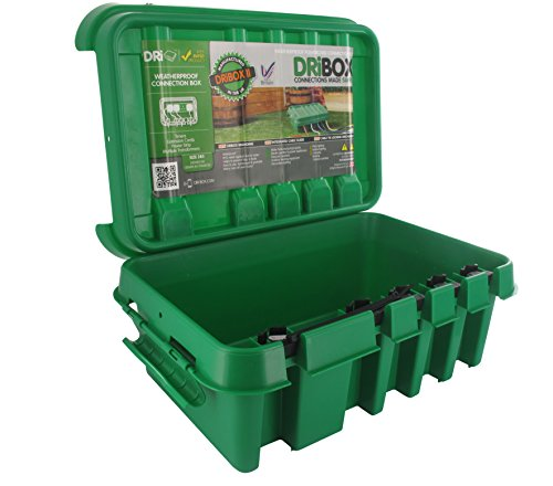 Dri-Box FL-1859-285G IP55 Weatherproof Box, Green, Medium