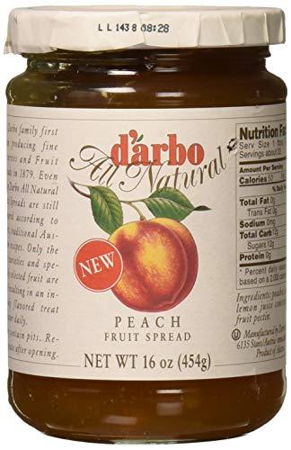 d'arbo All Natural Peach Fruit Spread, 16 Ounce