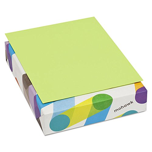 Mohawk 101261 BriteHue Multipurpose Colored Paper, 20lb, 8 1/2 x 11, Ultra Lime, 500 Sheets by Mohawk Home