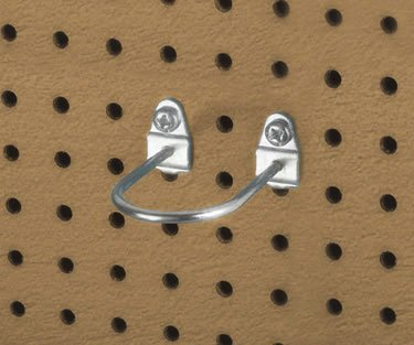Triton Products 76325 2.88 In. L, 1.75 In. I.D. Zinc Plated Steel Double Mount U Shape Pegboard Hook for DuraBoard, 5 Pack