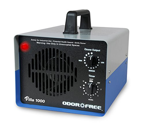 OdorFree Villa 1000 Ozone Generator for killing Mold, permanently removing Tobacco, Pet and Musty Odors at their Source