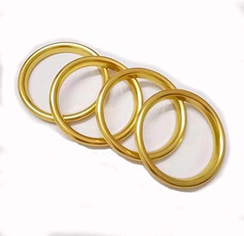 Emblem Trading Mittelkonsole Armaturenbrett Verkleidung Ringe L/üftungsregler Gold Passend F/ür A3 S3 RS3