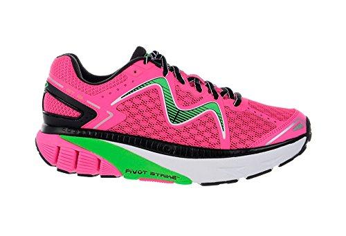MBT Women's GT 16 Running Shoe, Fuchsia/Lime Green/Black, 5 M US Mbt Physiological Footwear