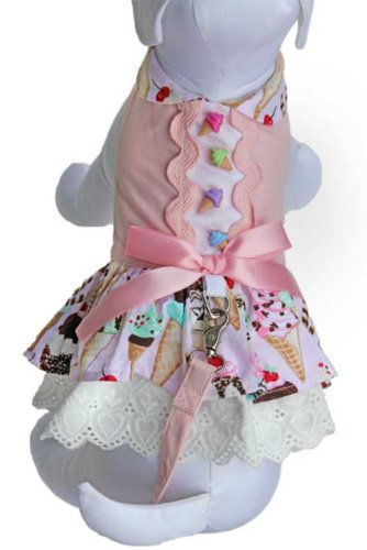 Cha-Cha Couture Ice Cream Treats Harness Dress  M, My Pet Supplies