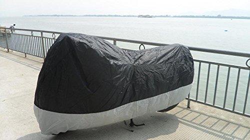 ブラックグレーKawasaki Vulcan 900オートバイカバー92 – 07 XL   B01J61EAIQ