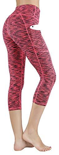 Stretch Workout Pants - LifeSky Women Yoga Capri Pants with Pockets High Waist Tummy Control Leggings 4 Way Stretch Soft Running Leggings