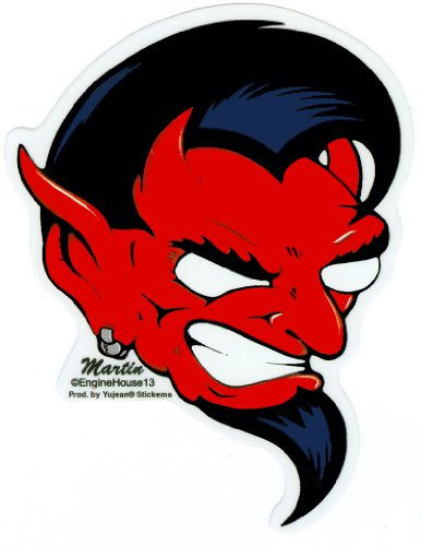 Enginehouse 13 - Devil Head with Goatee - Sticker / Decal