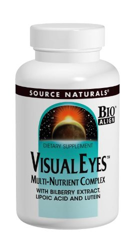 Source Naturals Visual Eyes Multi-Nutrient Complex, Supports Optimal Eye Function, 120 - Glasses Eye Vision Source