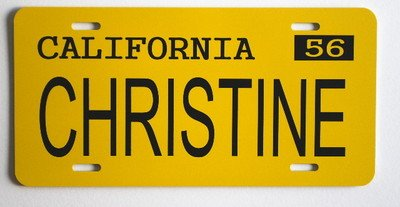 CHRISTINE 1958 58 PLYMOUTH FURY LICENSE PLATE