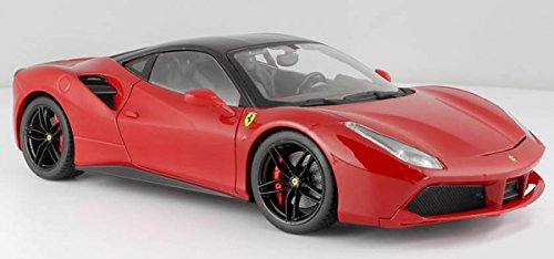 Bburago 16905R Ferrari 488 GTB Red Signature Series 1/18 Diecast Model Car ()